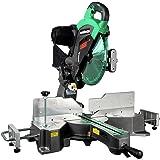 Metabo HPT 12-Inch Sliding Compound Miter Saw, Double Bevel, Laser Marker, Compact Slide System, 15-Amp Motor, Large Sliding