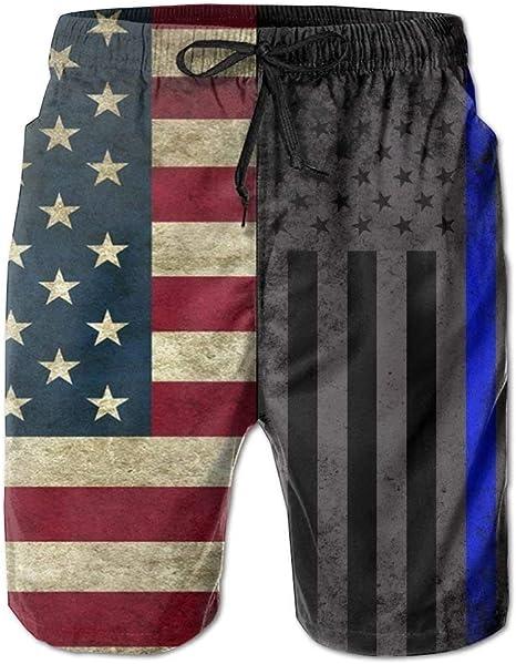 Zengyan American Slim Blue Line - Bañador para Hombre con diseño de Bandera de EE. UU. 30 XXL: Amazon.es: Ropa y accesorios