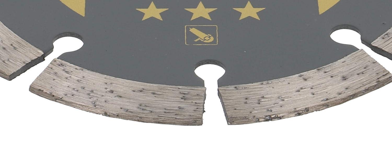 universal ladrillo piedra para cortar en seco y h/úmedo para hormig/ón PRODIAMANT Disco de corte de diamante Dorado