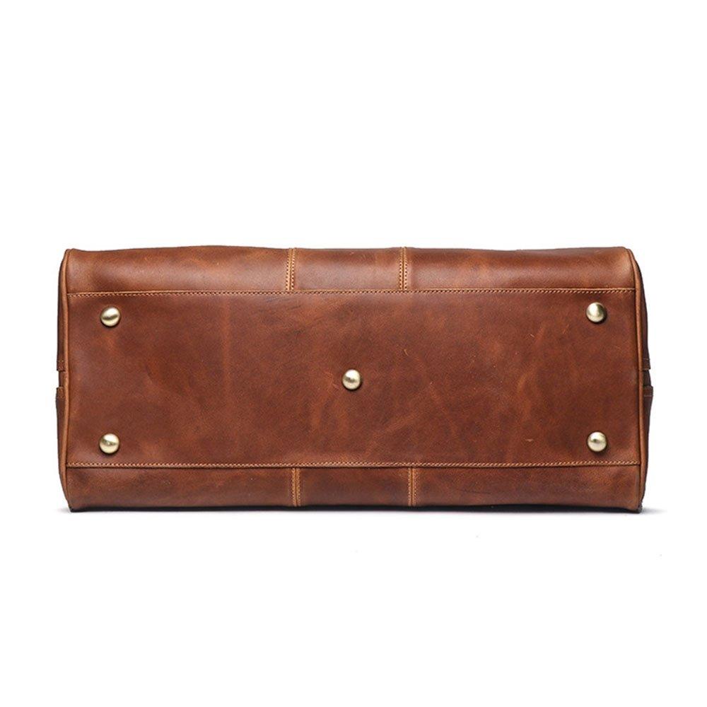 b2d50d2743 Amazon.com  Yangjiaxuan Men s Leather Handbags Women Shoulder Messenger Bags  Large Capacity Travel Duffel Bag (Color   Brown)  Sports   Outdoors