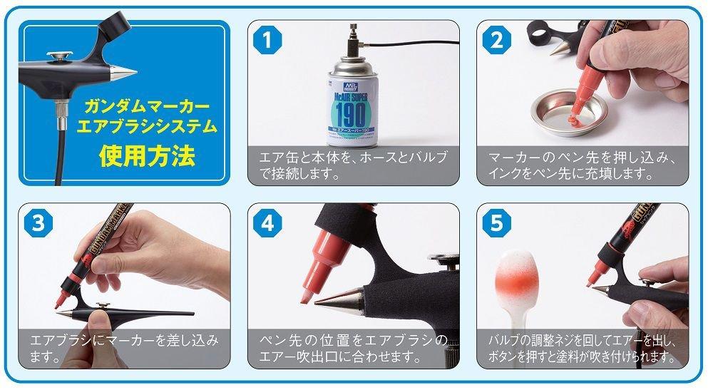GSI Creos Gundam Marker Airbrush System Tools by GSI Creos (Image #4)
