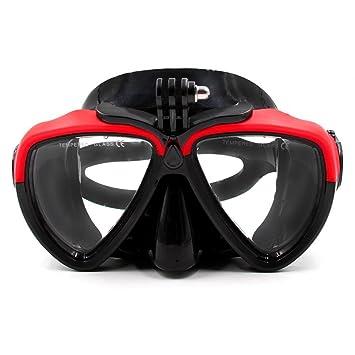 TELESIN Vaso de buceo de silicona con máscara de buceo desmontable Máscara de buceo gafas de