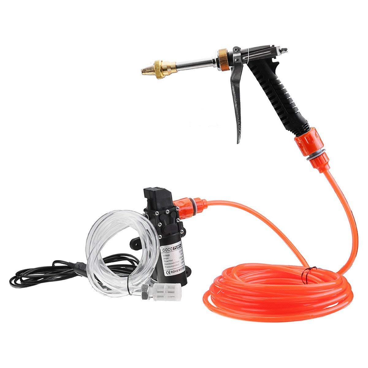 Electric Car Washer kit, 12 Volt Portable High Pressure Water Pump, Car Wash Device Fit for Auto RV Marine,Pets Showering,Window Cleaning,Gardening and Camping
