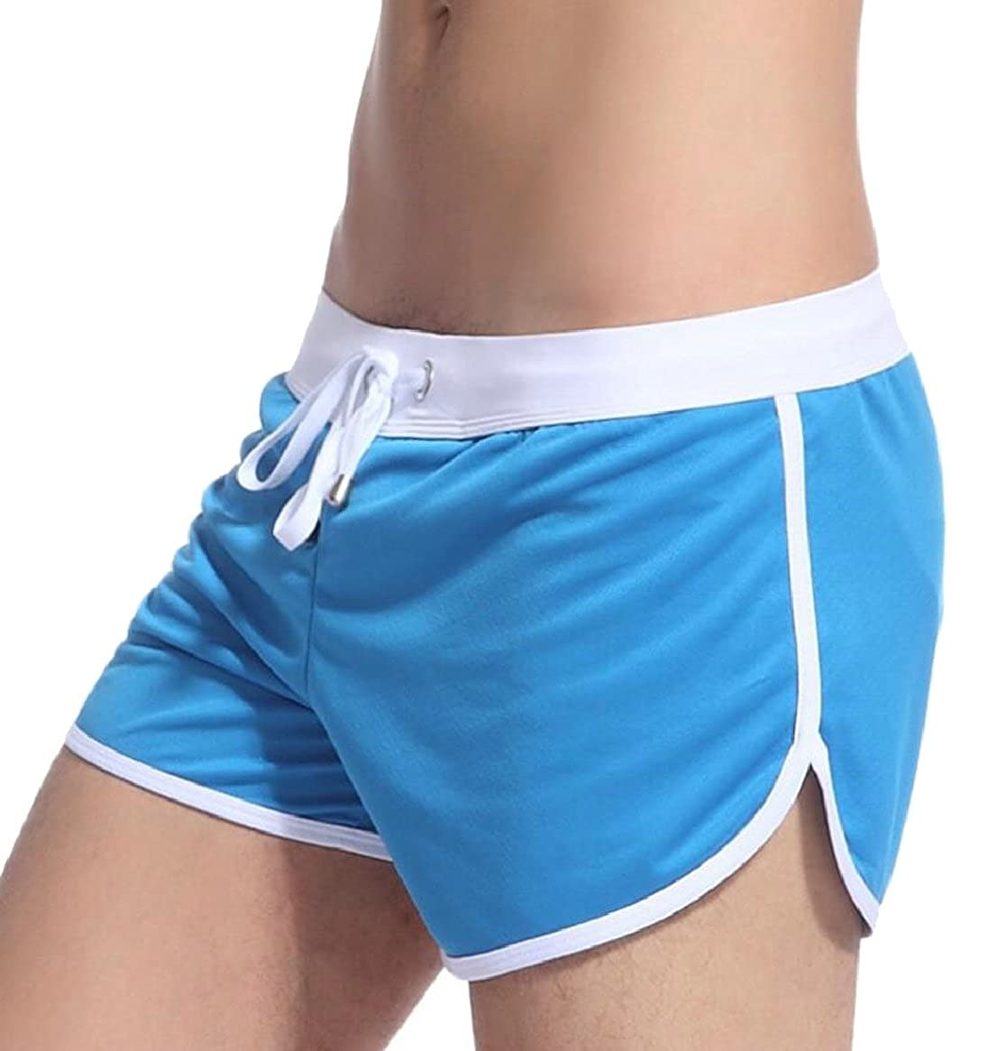 Tymhgt Bodybuilding Fitted Shorts Mens Workout Gym Running Tight Lifting Shorts