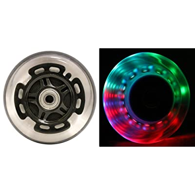 L.E.D. Scooter Wheels With Abec 9 Bearings for Razor Scooters 100mm Light Up Black 2-pack : Sports & Outdoors