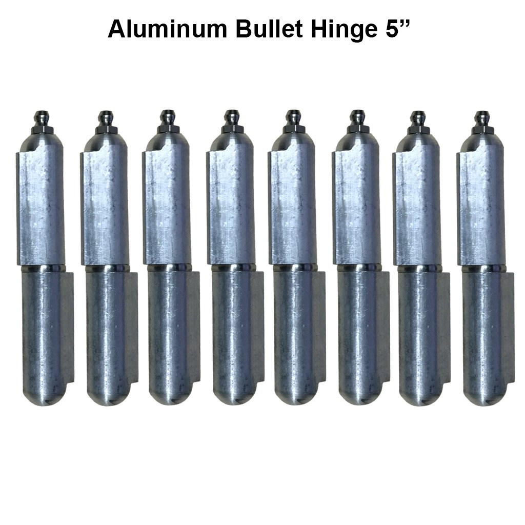 Lot 4 Pair 5'' Aluminum Weld On Heavy duty hinge Body Bullet Stainless Steel Bushing by L.A. Ornamental