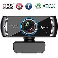 Stream Webcam 1080p/30FPS avec Microphone Caméra Web pour Skype FaceTime Youtube Twitch, Kompatibel avec Windows et Mac (920)