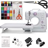 Chooling Sewing Machine (Dressmaking Scissors, Extension Stand & Sewing Supplies Set Included) - Small Household Electric Ove