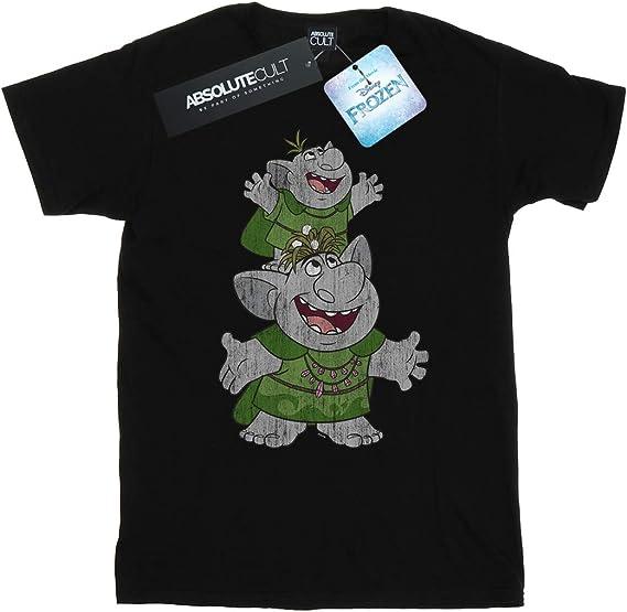 Disney Men/'s Frozen handstacking Trolls T-Shirt