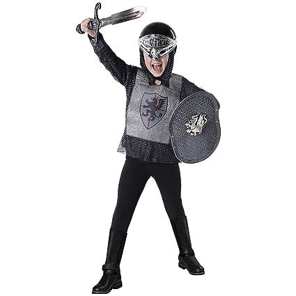Morph Caballero matadragones Plateado Medieval Disfraz ...