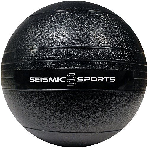 10 lb Slam Ball - 10 Pound Black Dead Weight Slam Ball for Crossfit, HIIT, Plyo, Cross Training and Cardio Exercise by Seismic Sports