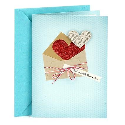 Amazon hallmark love greeting card love note office products hallmark love greeting card love note m4hsunfo