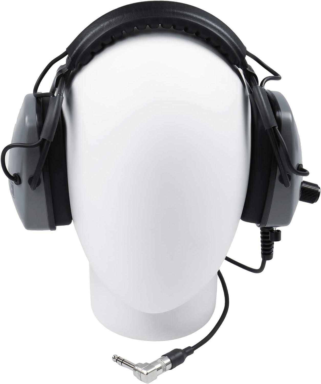 "DetectorPro Original Gray Ghost Headphones Metal Detectors with 1//4/"" Angle Plug"