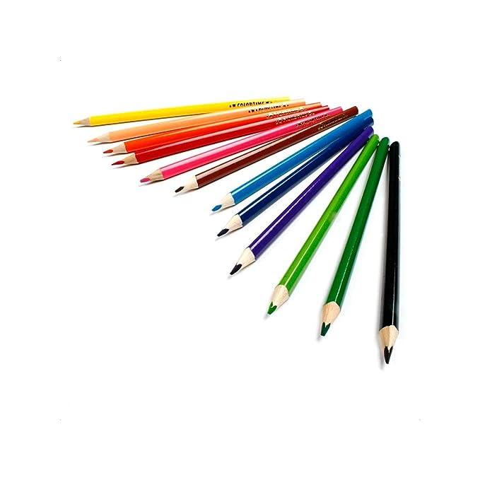para escritorio incluye 12 l/ápices de colores triangulares Portal/ápices con dise/ño de caballo para ni/ños