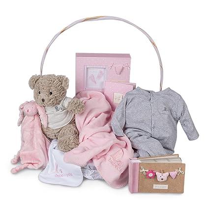 Canastilla regalo bebé Recuerdos Plena BebeDeParis-Rosa- cesta ...
