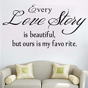 Dalxsh Cada historia de amor pegatinas de pared frase romántica ...