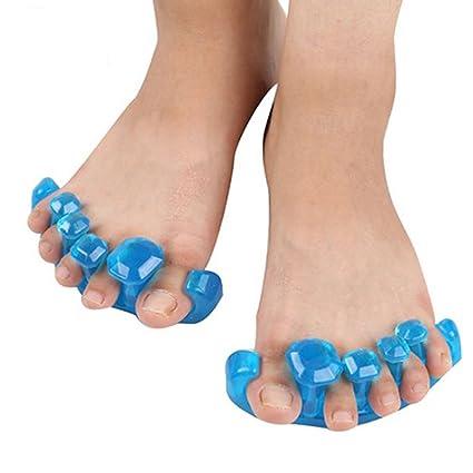 milya chanclas corrector Hallux Valgus Juanetes separador dedos Martillo para hombre y mujeres azul con Size