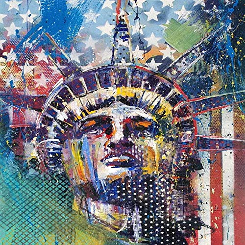 - Twuky DIY 5D Diamond Painting by Number Kits, Crystal Rhinestone Diamond Embroidery Paintings Pictures Arts Craft for Home Wall Decor, Full Drill,Statue of Liberty(30X30CM/12X12inch)