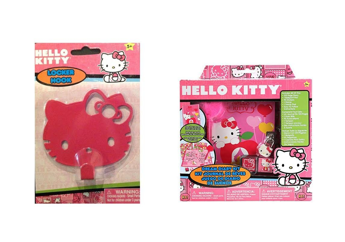 Hello Kitty Gift Set Diary and Pink Magnetic Locker Hook hi!!