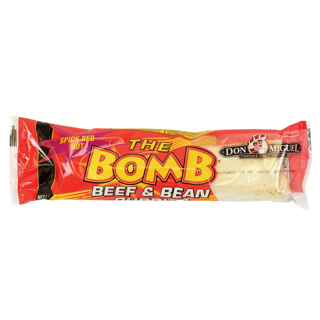 Don Miguel The Bomb Spicy Red Hot Beef and Bean Burrito, 14 oz., (12 count)