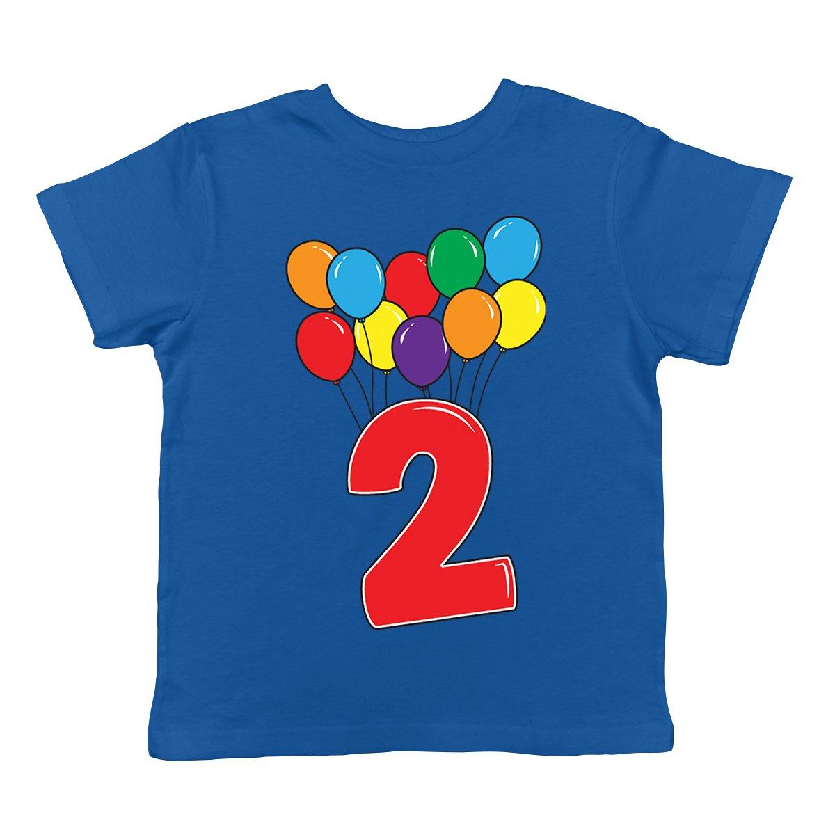 2 Year Old Birthday Balloons Infant T Shirt SpiritForged Apparel Royal 24 Months