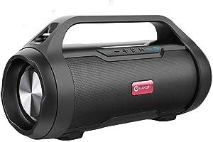 True Wireless Speaker, Woozik Rockit Party Wireless Speaker, with FM Radio, SD Card Input, Aux, True Wireless Outdoor Boombox TWS Water Resistant Indoor