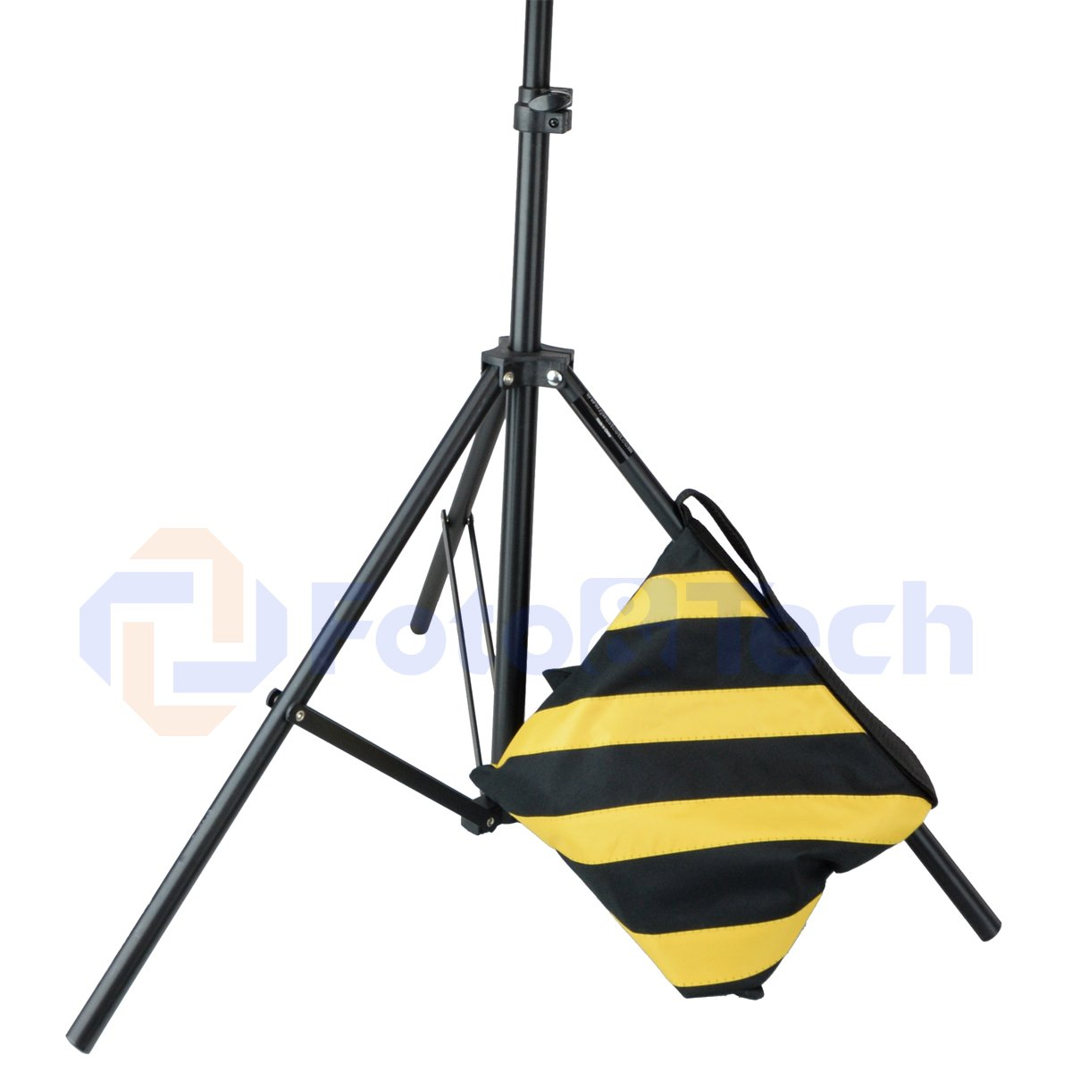 Foto&Tech 4 Pack Water Resistant 600D Oxford Heavy Duty with Internal Metal Support Sand Bag Weight Bags Saddle Bag Holds 20 LBS for Photo Video Studio Stand Tripod Indoor Outdoor (Yellow) by Foto&Tech (Image #6)