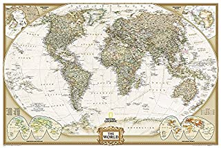 National Geographic: World Executive Wall Map (Poster Size: 36 x 24 inches) (National Geographic Reference Map) (1597752088) | Amazon Products