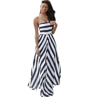 85da4ae86d0 IEason Women Summer Vintage Boho Long Maxi Evening Party Beach Dress  Sundress (XS