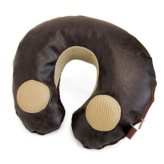 Cervicales y piel sintética marrón cojín música altavoz ...