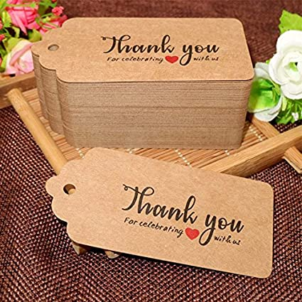 Red Tags,100 PCS Red Gift Tags for Christmas,10 5 cm Wedding Favour Craft Hang Tags with Jute Twine 30 Meters Long for Crafts /& Price Tags Labels