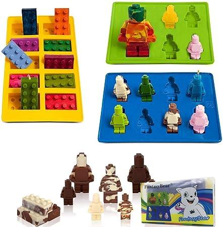 Eisw/ürfelform Spielfigur M/ännchen Kindergeburtstag Lego-Fans Silikon Schokolade