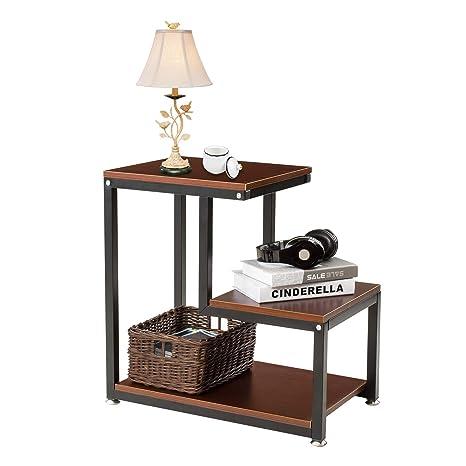 Amazon.com: Sedeta mesa auxiliar, mesa auxiliar de 3 niveles ...
