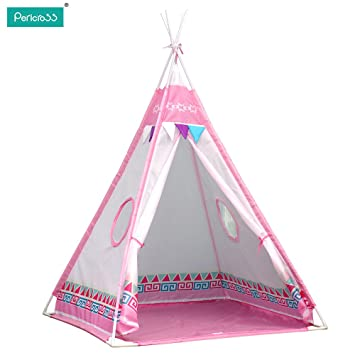 Pericross Kids Teepee Play Tents Children Wigwam Tent (Pink)  sc 1 st  Amazon UK & Pericross Kids Teepee Play Tents Children Wigwam Tent (Pink ...