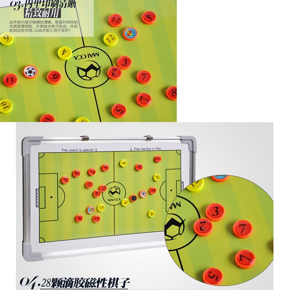 Coaches' & Referees' Gear 2016 Magnetic football/soccer coaching board football tactics board soccer tactics plate whiteboard marker/pen Clipboard Aluminum alloy& PVC material Yellow Accessories