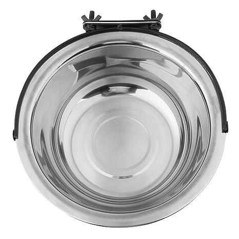Cuenco colgante mascotas, plato para colgar de acero inoxidable con ganchos Alimentador de agua para alimentos para perros cachorro de gato(XL)