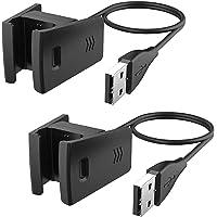 CAVN oplader Compatibel met fitbit Charge 2 laadkabel (2 pack), vervanging USB premium laadstation laadstation lader…