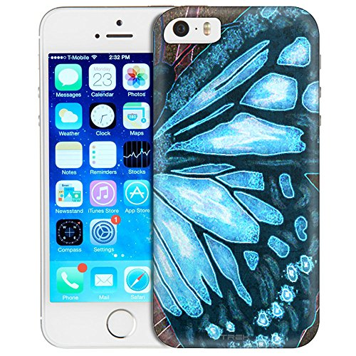 apple-iphone-se-case-snap-on-cover-by-trek-butterfly-wing-blue-one-piece-slim-case