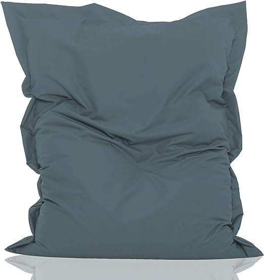 Turquoi Housse en PVC Green Bean /© Housse de pouf g/éante rectangulaire XL 120 x 160 cm Housse de pouf sans rembourrage Lavable Housse de chaise longue Pour lint/érieur et lext/érieur