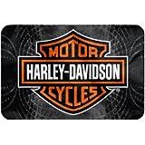 Harley Davidson Vibes Bar U0026 Shield Raschel Round Edge Rug, 20 X 30 Inch