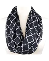 Pop Fashion Scarves for Women, Girls, Ladies, Infinity Scarf with Zipper Pocket Pattern Print Lightweight Wrap