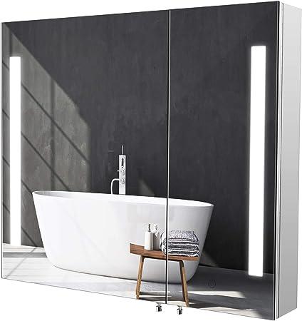Material - Este armario de pared está hecho de acero inoxidable 430. Es resistente al agua, a la hum