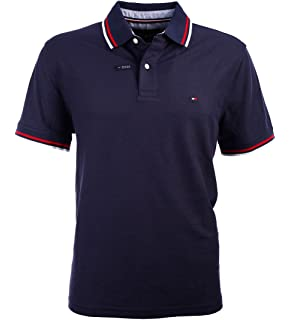 e949a52955e Tommy Hilfiger Mens Custom Fit Solid Color Polo Shirt at Amazon ...