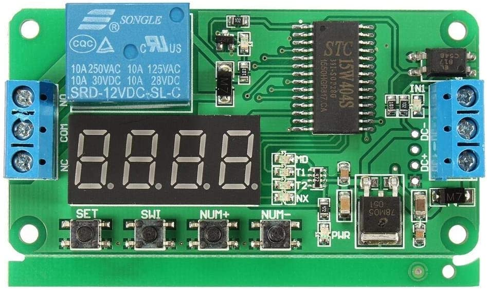 Luckya セルフロック遅延リレー多機能サイクルタイマーモジュールは、コントロール10個入りDC 12V PLCスポットSteuermodulスイッチ