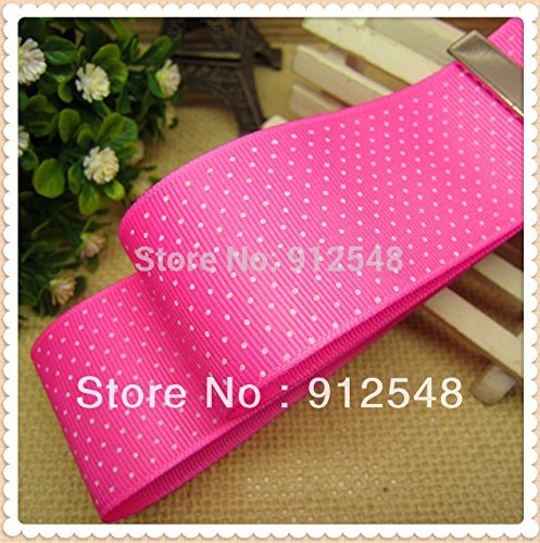 FunnyCraft 10 Yards 1 1/2 Inch(38Mm) Dots Polka Grosgrain Ribbon The Tape For Sewing Diy Hair Accessories Handmade