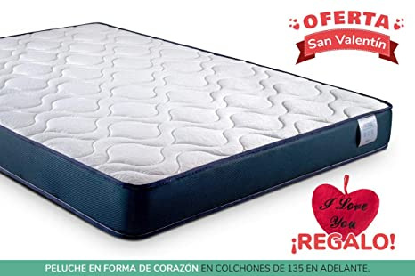 KAMA HAUS Colchón Viscoelástico Roll 160x200 cm. | con Viscoelástica Adaptable | Tejido Transpirable |