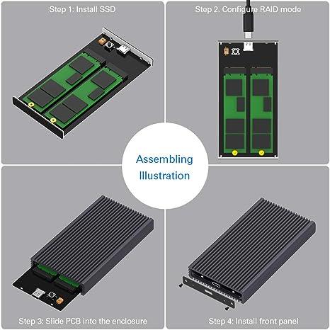 Amazon.com: TDBT Dual Bay M.2 SATA SSD Hardware RAID ...