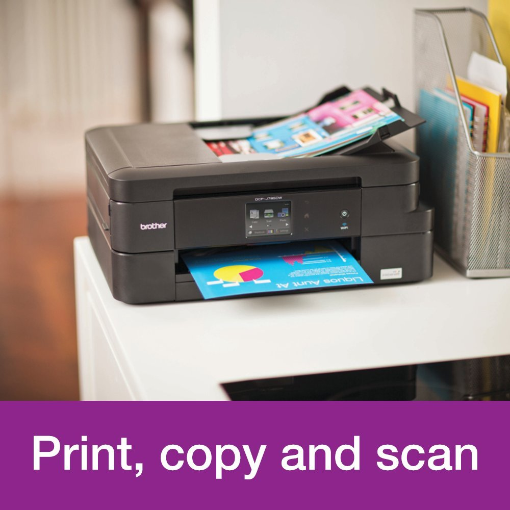 Brother DCP-J785DW A4 Colour Inkjet Printer, Wireless and PC Connected,  Print, Copy, Scan and 2 Sided Printing
