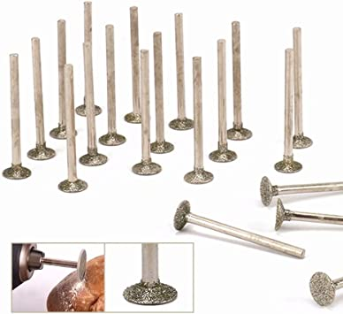 uxcell Diamond Burrs Bits Grinding Drill Carving Rotary Tool for Glass Stone Ceramic 150 Grit 1//4 Shank 10mm Cylinder 10 Pcs