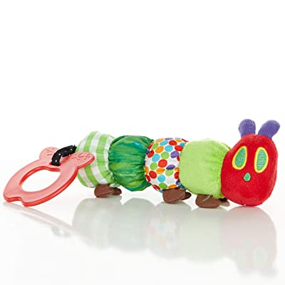 The World of Eric Carle, The Very Hungry Caterpillar Teether Rattle, Teething Toy for Babies : Baby Teether Toys : Baby